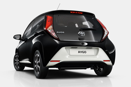 Toyota Aygo profil arriere